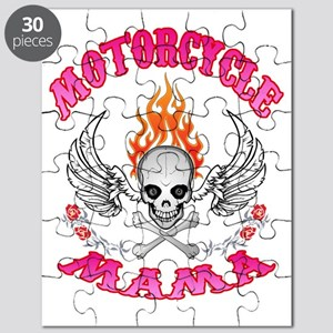 MotorCycle Mama Winged Skull Puzzle