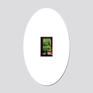 colonial Cottage Window 1 20x12 Oval Wall Decal