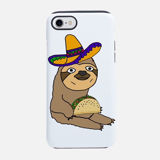 Cute Sloth eating Taco iPhone 7 Tough Case