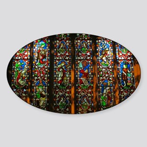 christ church cathedral window 1 Sticker (Oval)