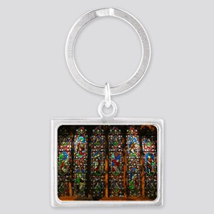 christ church cathedral window  Landscape Keychain