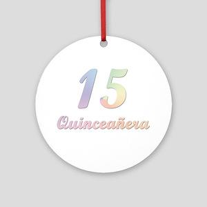 Quinceañera Ornament (Round)