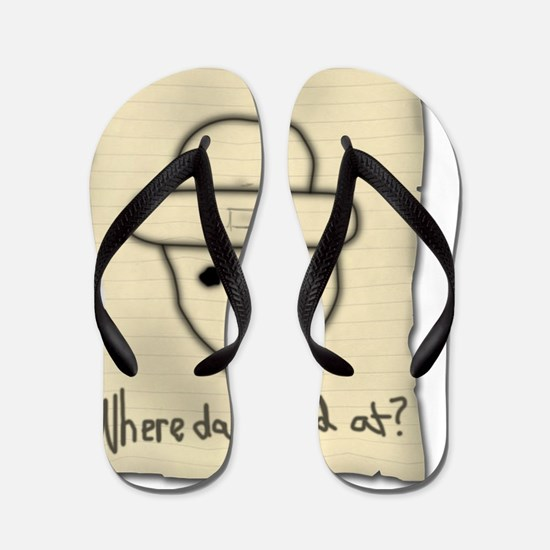 DRAWING WITH TEXT Flip Flops