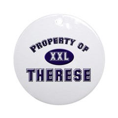 Property of therese Ornament (Round)