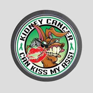 Kidney-Cancer-Kiss-My-Ass Wall Clock