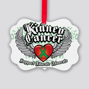 Kidney-Cancer-Wings Picture Ornament