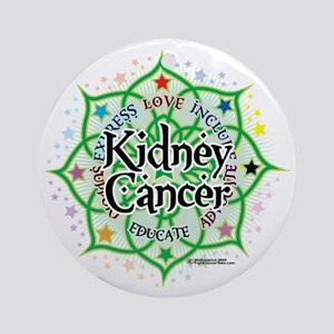 Kidney-Cancer-Lotus Round Ornament