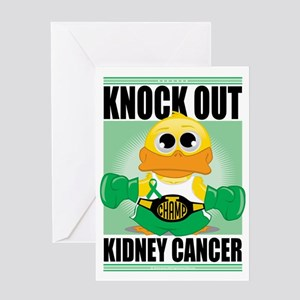 Knock-Out-Kidney-Cancer Greeting Card