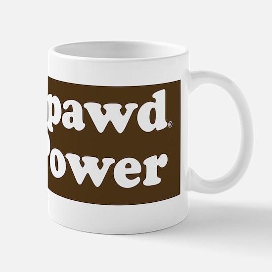 tripawd power sticker goldie front leg Mug