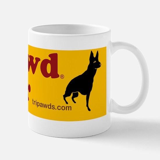 tripawd power sticker gsd front black Mug