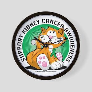 Kidney-Cancer-Cat Wall Clock