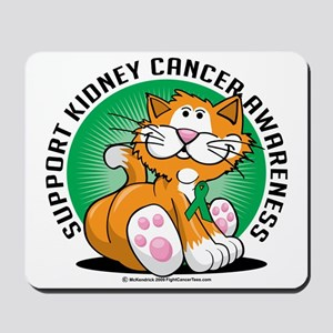 Kidney-Cancer-Cat Mousepad
