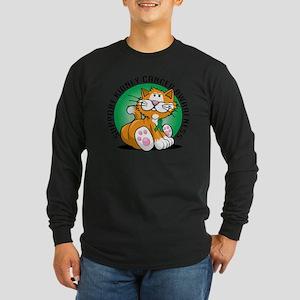 Kidney-Cancer-Cat Long Sleeve Dark T-Shirt