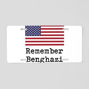 Remember Benghazi Aluminum License Plate