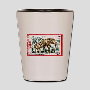 Vintage 1971 Congo Elephants Postage Stamp Shot Gl