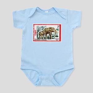 Vintage 1971 Congo Elephants Postage Stamp Body Su