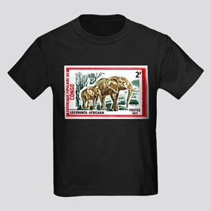 Vintage 1971 Congo Elephants Postage Stamp T-Shirt