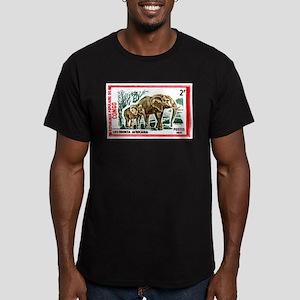 Vintage 1971 Congo Elephants Postage Stamp T-Shirt