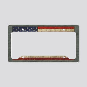 Distressed USA Flag License Plate Holder