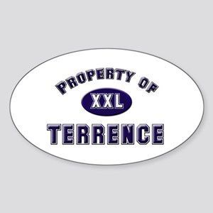Property of terrence Oval Sticker