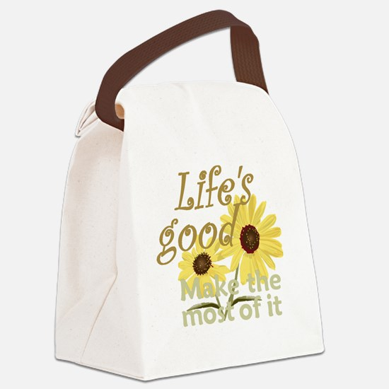 Lifes Good 02 Canvas Lunch Bag