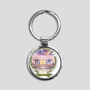 Inaug 44th President Round Keychain