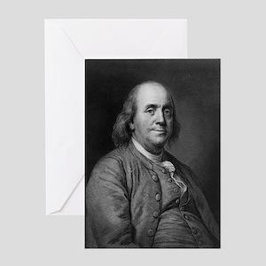 Franklin-Benjamin-LOC Greeting Cards