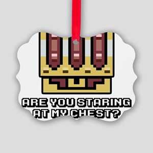 Staring at my 8-bit chest? Picture Ornament