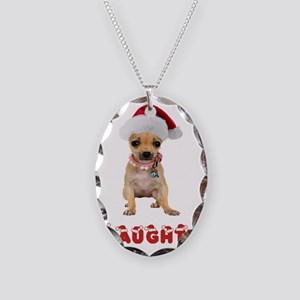Naughty Chihuahua Necklace Oval Charm