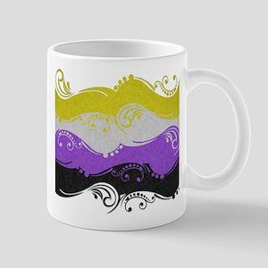 Non-Binary Ornamental Flag 11 oz Ceramic Mug