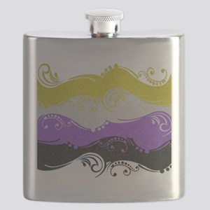 Non-Binary Ornamental Flag Flask