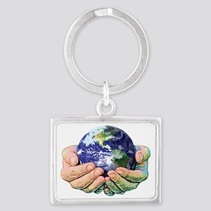 WORLD FULL SIZE Landscape Keychain