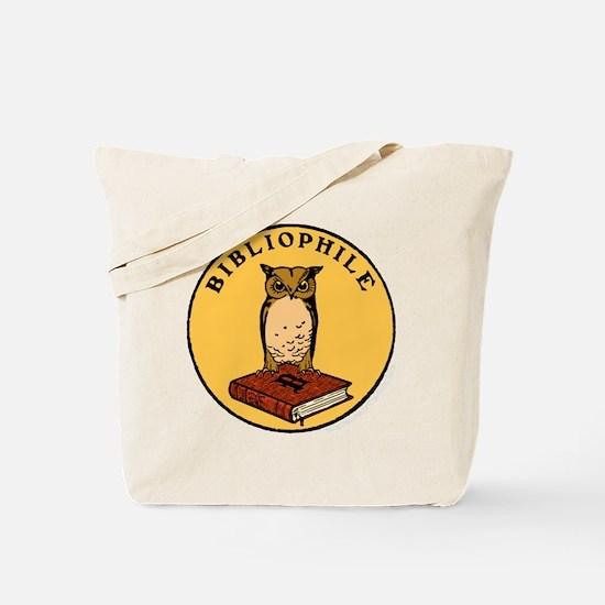 Bibliophile Seal (w/ text) dark Tote Bag