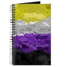 Non-Binary Paint Splatter Flag Journal