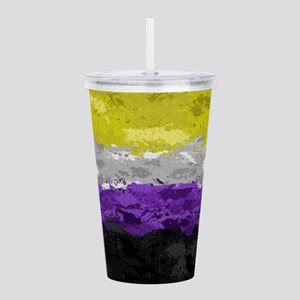Non-Binary Paint Splat Acrylic Double-wall Tumbler