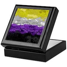 Non-Binary Paint Splatter Flag Keepsake Box