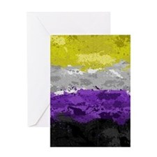 Non-Binary Paint Splatter Flag Greeting Card