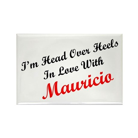 In Love with Mauricio Rectangle Magnet