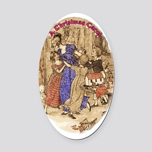 MAS Belle with kids Oval Car Magnet