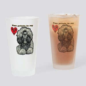 poodle prints Drinking Glass