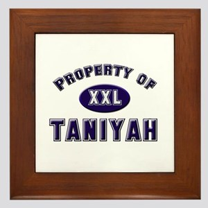 Property of taniyah Framed Tile