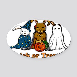 Halloween Rabbits Oval Car Magnet