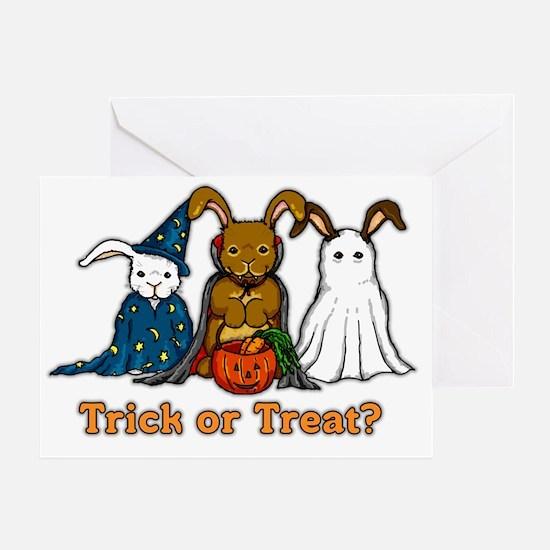 Halloween Rabbits Greeting Card