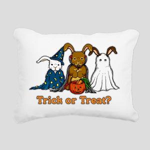 Halloween Rabbits Rectangular Canvas Pillow