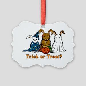 Halloween Rabbits Picture Ornament