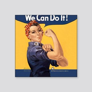 "we-can-do-it_sb Square Sticker 3"" x 3"""