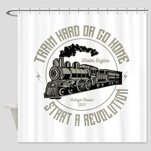 Train hard Shower Curtain