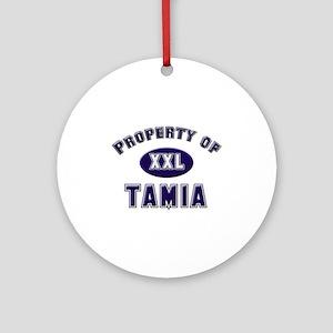 Property of tamia Ornament (Round)