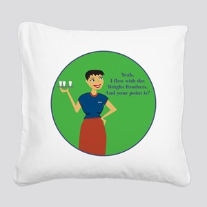 WBBR Square Canvas Pillow