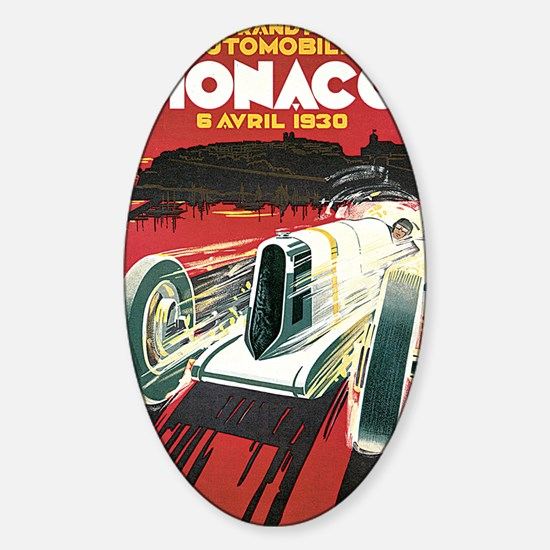 Monaco Grand Prix 1930 1 Sticker (Oval)